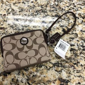 Coach Daisy Signature Satin Zip-Around Wallet